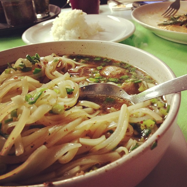 Thai beef noodle soup. (Taken with Instagram at Pad Thai)