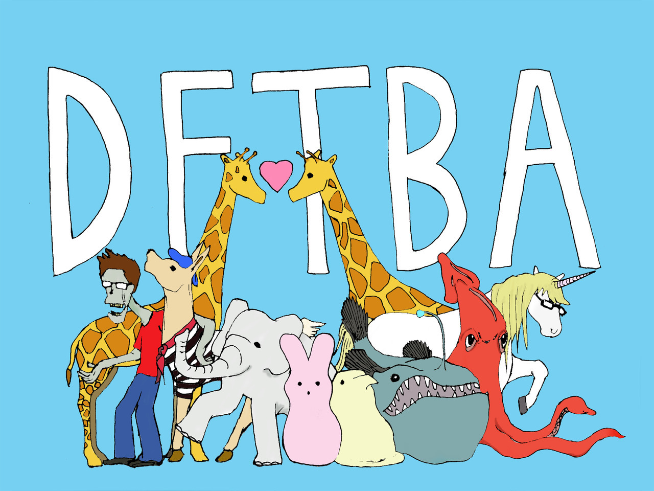 I designed this poster for nerdfighters everywhere! Nerdfighter Menagerie!