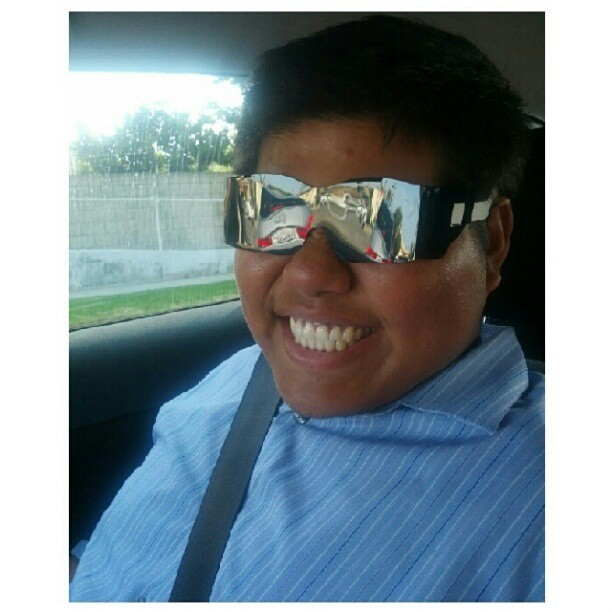Kyle in his stunna shades he for from his optometrist lol (Taken with Instagram)