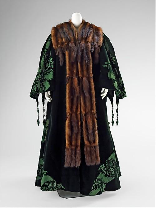 Вечер пальто Jean-Philippe Worth, 1901 Метрополитен-музей