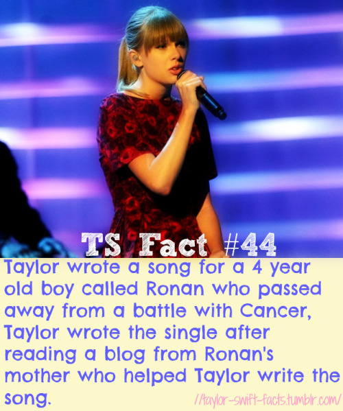 taylor-swift-facts:  TS #44