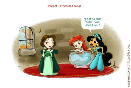 amymebberson:  Pocket Princesses #32: Fall Reblog please, don't repost