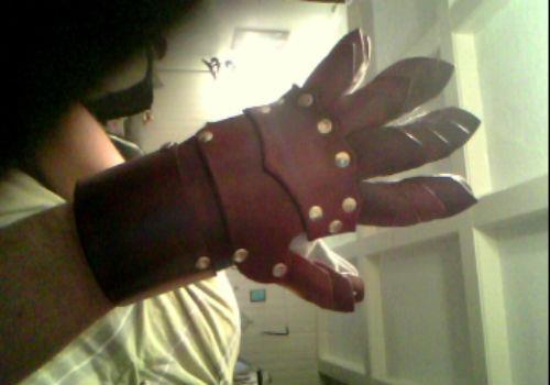 a gauntlet i made this week The Crimson Hand! -Lee