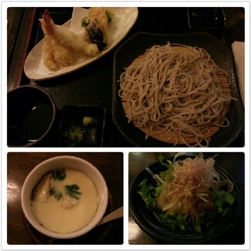 Early dinner prix fixe at Soba Koh. We watched the guy hand make the soba noodles. Steamed egg with crabmeat and ginko so good! (Taken with Instagram) Soba Koh, 309 East 5th Street, East Village, NYC