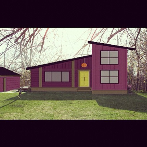 my 2nd mockup of a redesign of our house.  maybe someday…. (Taken with Instagram)