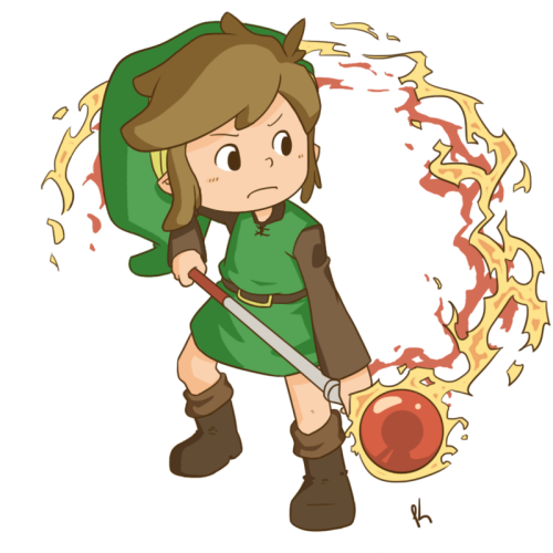 imstillyourzelda:  Zelda Collab - Fire Rod by ~Kristin-with-an-I