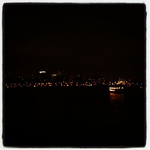 Brooklyn, from the Staten Island Ferry. #newyork #nyc #city #skyline #night #Brooklyn  (Taken with Instagram)