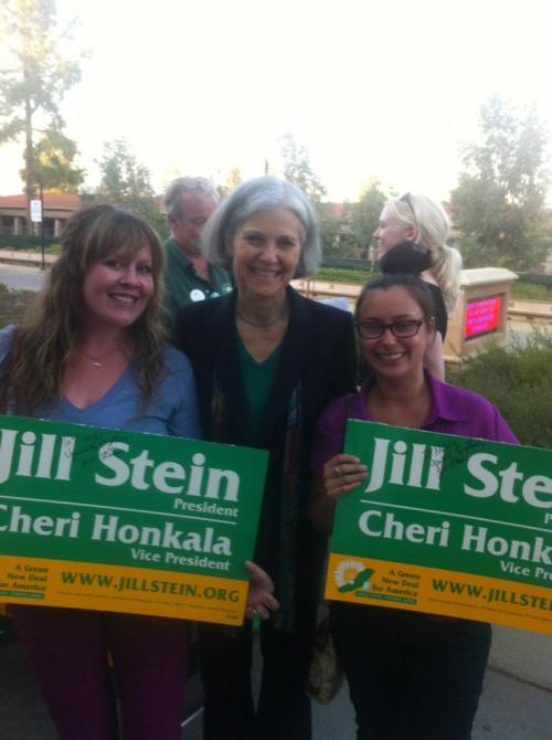 @Tracyiswright, Dr. Jill Stein, and Me I know who I'm voting for this November. Jill Stein 2012