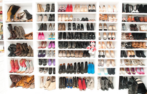 sartorial-editorial:  (part of) Ashley Tisdale's massive shoe collection