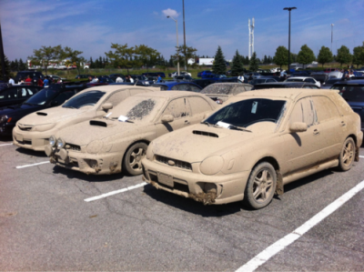 Awesome! As a child I always wanted to have a dirty white car.. here I cant even see what color the cars are! I am loving this!!