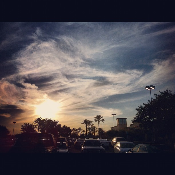 Parking lot sunset. #sunset #epic  (Taken with Instagram)