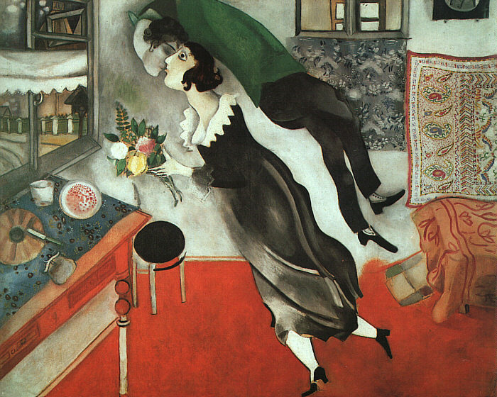 wildthicket:  The Birthday by Marc Chagall, 1915