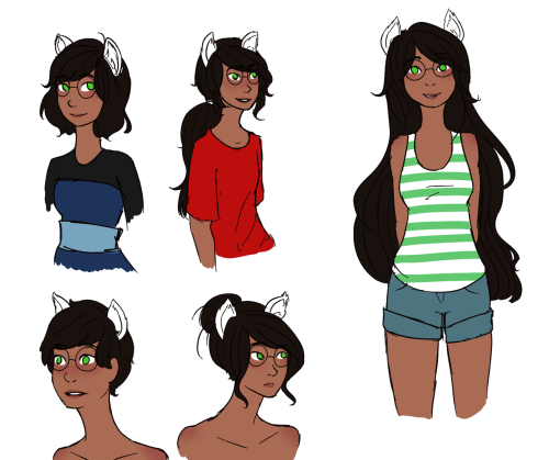 thegiftofbutts:  jade with different hairstyles whoo