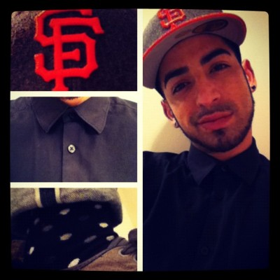 #outfit #sf #sfgiants #gay #gayboy #happysocks #bored  (Taken with Instagram)