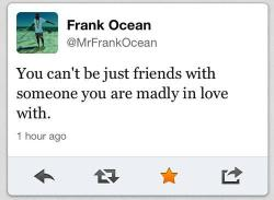 Fake Frank Ocean ain't never lied… except for about being Frank Ocean.   But word to this post.