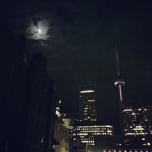 Toronto by moonlight. (Taken with Instagram)