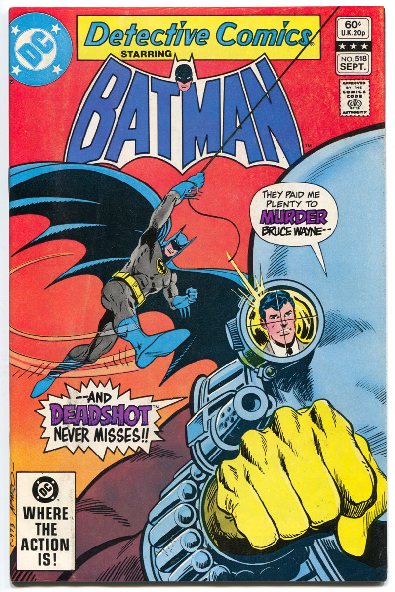 comicbookcovers:  Detective Comics #518, September 1982, cover by Jim Aparo  I never met Jim Aparo but I still managed to grow up with him. :)