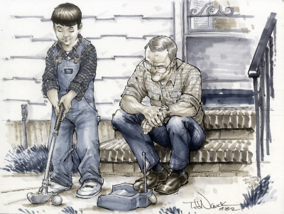 Todd Nauck's take on James and Grandpa Gullo. (Todd Nauck on Tumblr.)