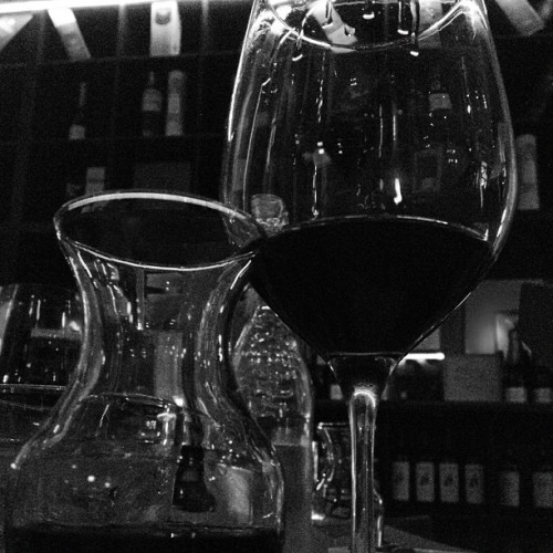 #blackandwhite #redwine #sanfrancisco #california #drink  (Taken with Instagram at Rouge & Blanc )