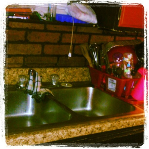 Day 28: a good thing. An empty sink and a full dish rack are most definitely a good thing :) #fmsphotoaday  (Taken with Instagram)
