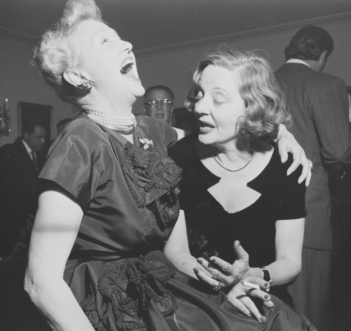 miss-flapper:  Tallulah Bankhead and Hedda Hopper looking drunk, 1950s.