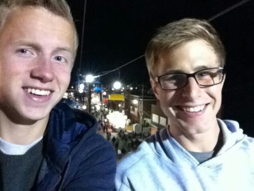 constellationkid:  willbuckets and i on the chairlift at the fair c: