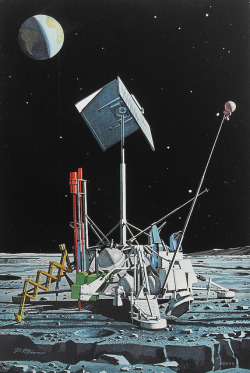 spaceofficer:  1962 MOON SURVEYOR Vintage NASA Illustration OUTER SPACE CRAFT