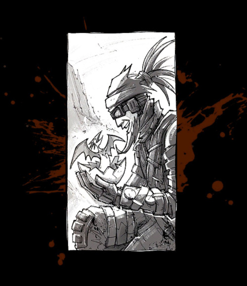 Don't worry guys, it'll be OK. Mordecai with Bloodwing's chick, end credits