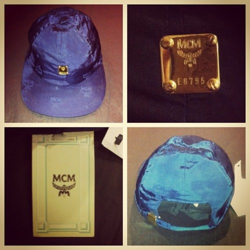 #vintage #mcm #legere #strapback hat blue on blue monogram with oh tags.  $150.00 + shipping (Taken with Instagram at WWW.PORTAGECHICAGO.COM)