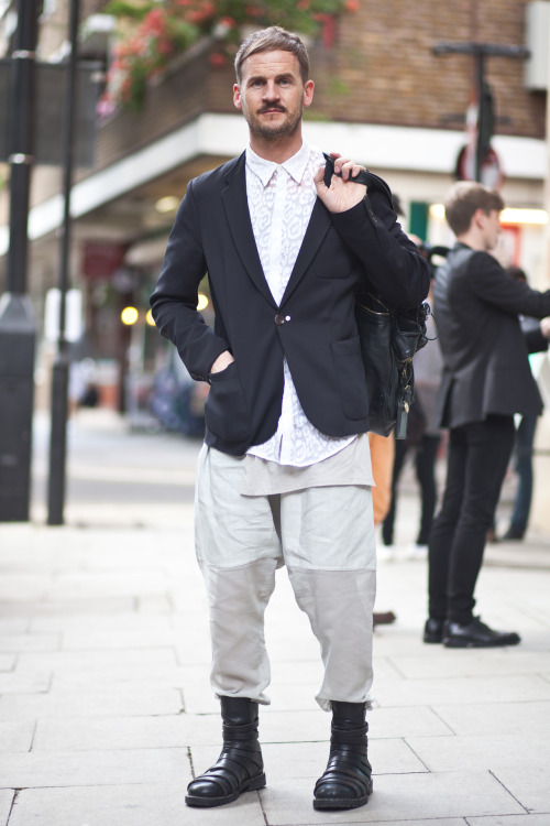Man in London outside the SS13 shows June 2012 Originally part of my models.com story