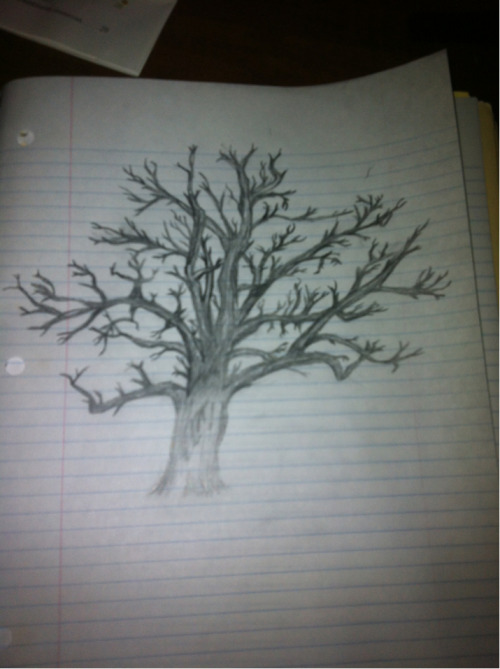 healthybabysteps:  So this guy asked me to draw a rough draft of a tree for a tattoo :| I am not an artist by any means, but he is really cute so I didn't wanna say no lol what do you guys think? I might do different designs tomorrow