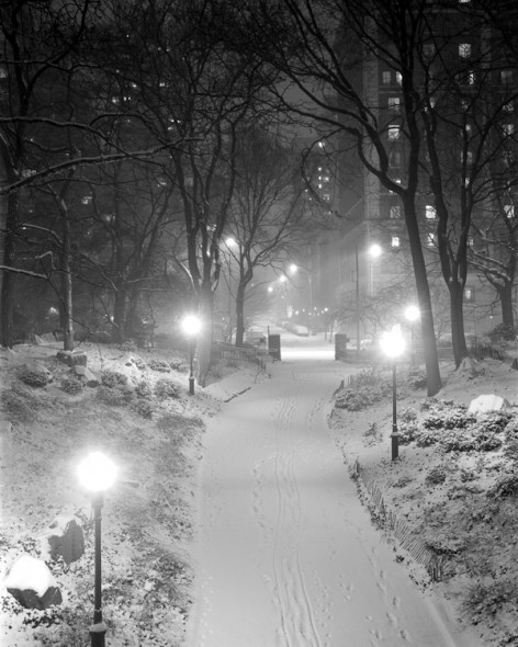 (via Night Storm Schurz Park New York / NEW YORK PHOTOGRAPHY (b&w)) Photographed with large view camera, circa 1993.  Carl Schurz Park - upper east side of New York.
