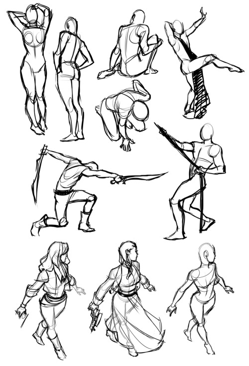 kreugan:  posemaniacs/gesture drawing tool sketches