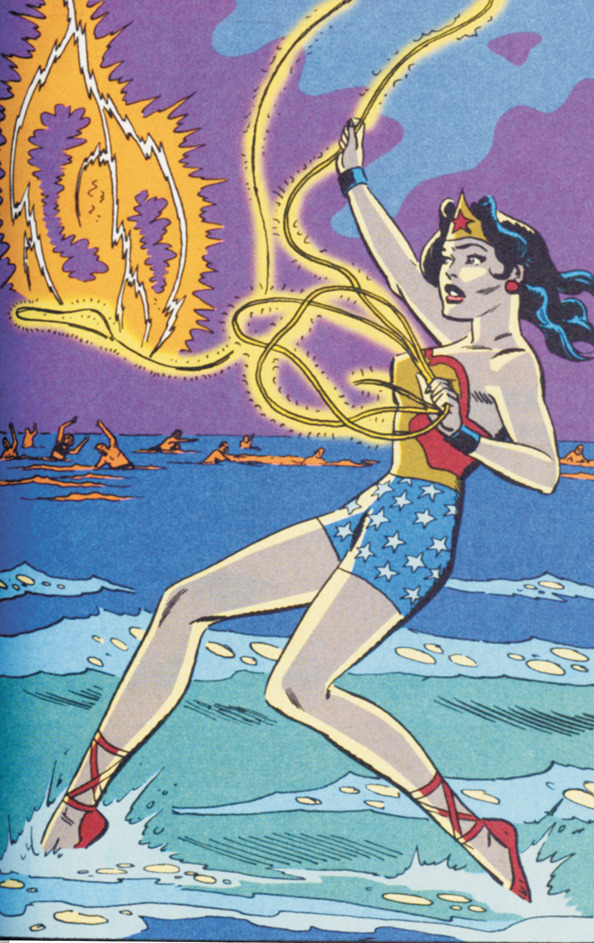The cover of DC's Wonder Woman: The Amazon Princess Archives Vol. 1, using art from the titles collected within by Ross Andru and Mike Esposito