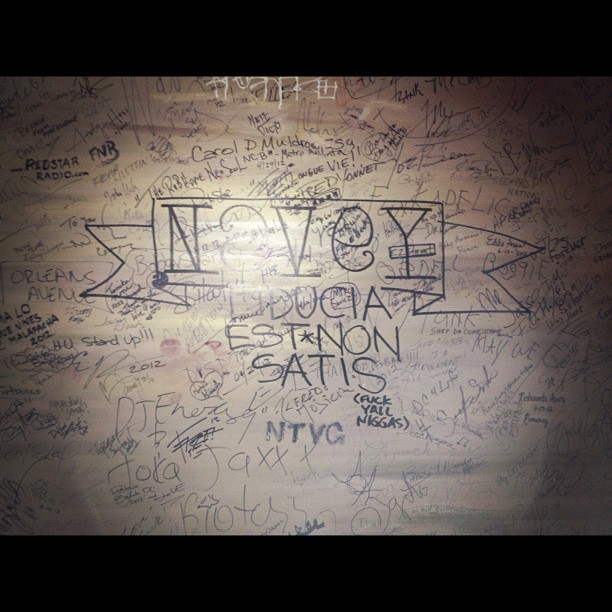 I tagged the fuck out of the inspiration wall at the Howard Theater. #DC #NaVeY (Taken with Instagram)
