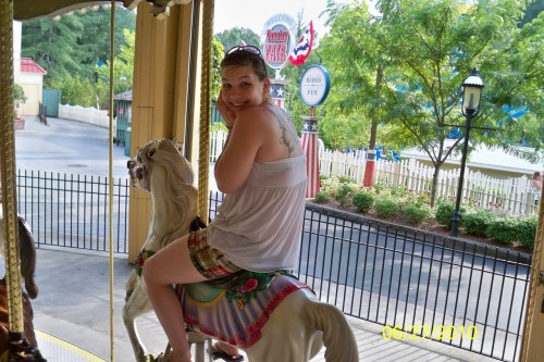 In case you guys wanted a picture of me lookin' like an ass on a carousel horse… Here you go.
