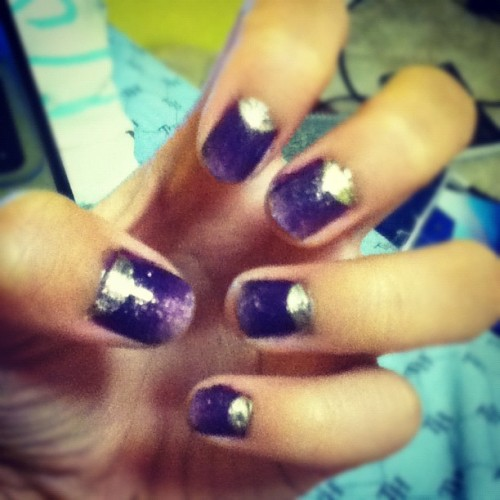 Purple and gold! Reppin huskies with my finger tips ;) (Taken with Instagram)
