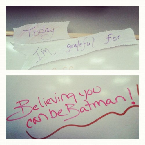 I love my coworkers, we all can be Batman. #Batman #Coworkers #superheroes  (Taken with Instagram)