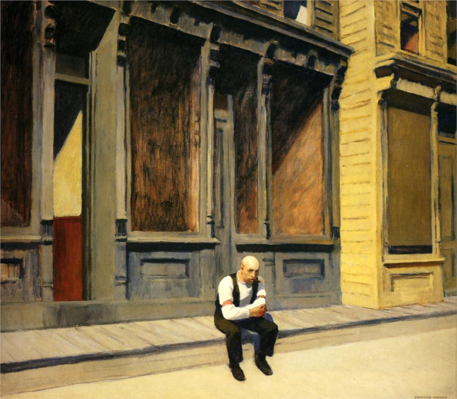 artishardgr: Edward Hopper - Sunday 1926 HD
