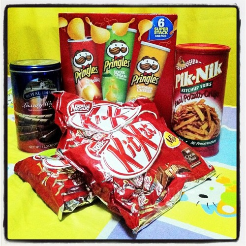 Junk food galore! <3 (Taken with Instagram)