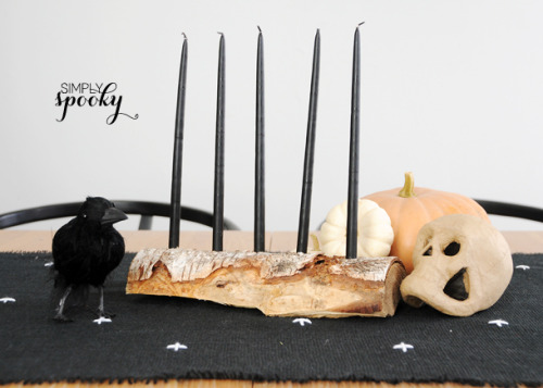 prettylittlepieces:  Log Candelabra DIY