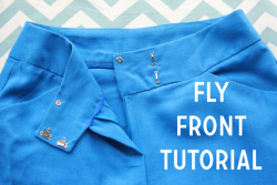 Will surely come in handy (via Tutorial: Sewing A Fly Front | Coletterie)
