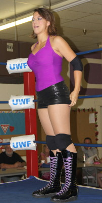 Female wrestler Mary Elizabeth Monroe