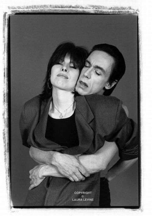 Iggy & Chrissie that is a form of love. Via contra-flow.