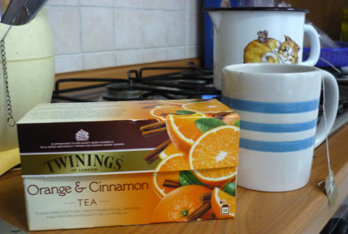 It's raining. I'm going to make a cup of tea… Cinnamon… You know what I mean!