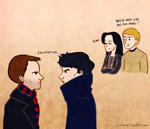 mirimap:  A doodle. In which Sherlock Holmes is most intrigued with Sherlock Holmes.