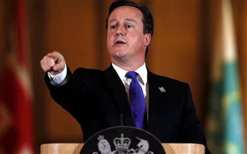 fingerpointing by david cameron.