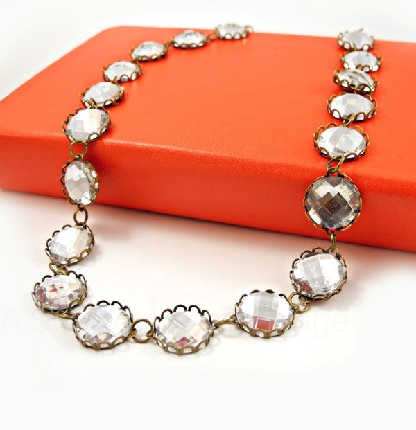 J Crew Inspired Crystal Necklace | A Splendid Assemblage I know that you might look at this DIY and think - yeah right Emma, there's no way I'm able to make that - but trust me, this is a great starter project for anyone wanting to make their own jewellery. Once you've got your supplies, it's really down to preparing your settings and gluing in the crystals. Plus ASA's version is a lotcheaper than the original J Crew so you can make one for you and one for a friend (or two for you!)