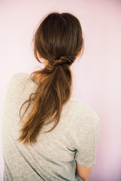 Ponytail Twist | A Cup Of Jo A Cup Of Jo always has these gorgeous tutorials for your hair that give the impression that you just did a little twist here and a little tuck there to create a casual yet classy style! If you always fall back on a pony (guilty!) then this is a great way to add a bit of a twist (no pun intended!) to it.
