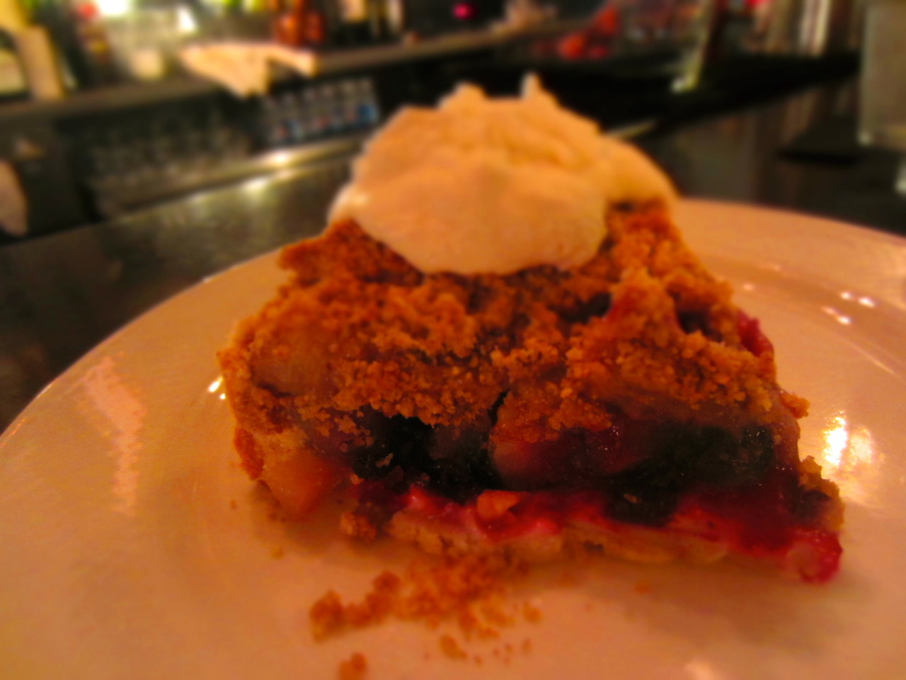 midnight pie at The Roosevelt(vegan blueberry pear)counting the minutes until this bakery opensand i can have midnight pieevery night!